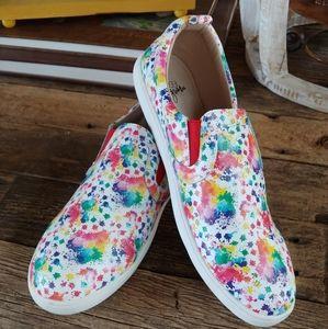 Monkey Feet Splatter Paint Loafers Size 42